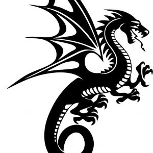 Aufkleber Drachen